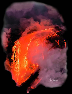 Photograph - Lava Flowing Into The Ocean 17 by Jim Thompson