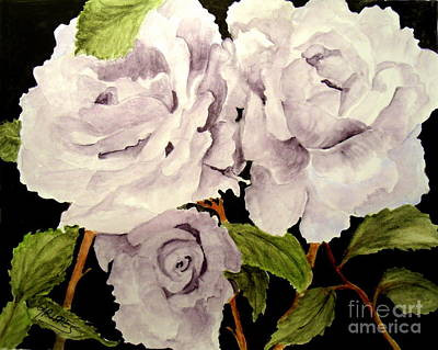 Painting - Lavender Roses by Carol Grimes