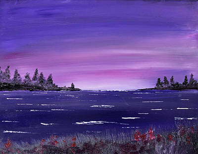 Painting - Lavender Sunrise by Jack G Brauer
