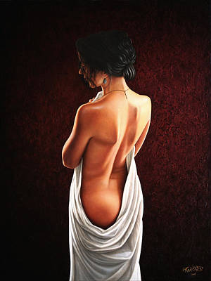 Cloth Painting - Lavish Calla by Horacio Cardozo