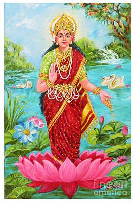 Goddess Jewellery Painting - Laxmi  by Kalpana Talpade Ranadive