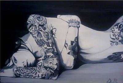 Laying Around Art Print