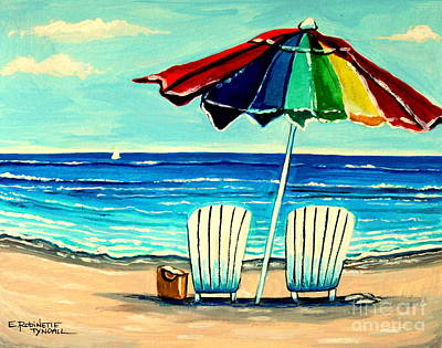 Painting - Lazy Days by Elizabeth Robinette Tyndall