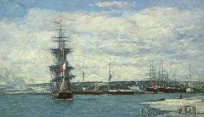 Sea View Painting - Le Havre by Eugene Louis Boudin