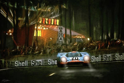 1970 Digital Art - Le Mans Legend by Peter Chilelli