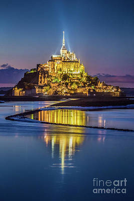 Photograph - Le Mont Saint-michel by JR Photography