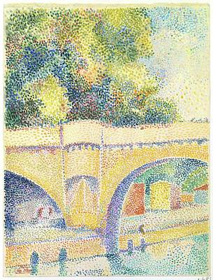 Pointillist Painting - Le Pont Neuf by Hippolyte Petitjean