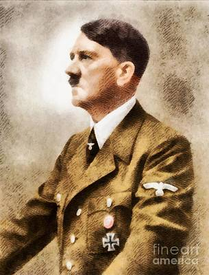 Trench Painting - Leaders Of Wwii - Adolf Hitler by John Springfield