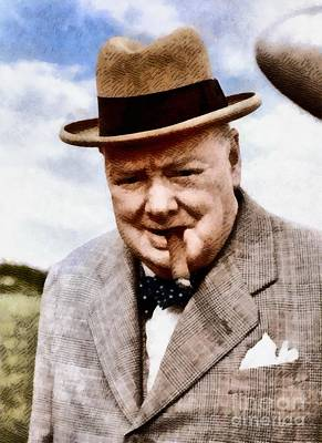 Trench Painting - Leaders Of Wwii - Winston Churchill by John Springfield