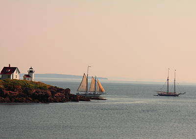 Windjammer Photograph - Leaving Camden Harbor by Doug Mills