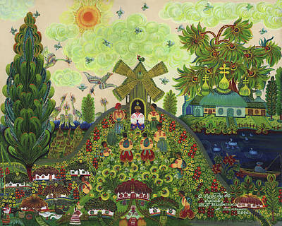 Unusual Plants Drawing - Lebedy Village Visited By T. G. Shevchenko Sometimes by Marfa Tymchenko