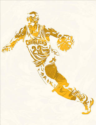 Lebron James Cleveland Cavaliers Pixel Art 10 Art Print