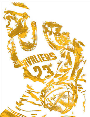 Lebron James Cleveland Cavaliers Pixel Art 7 Art Print