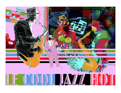 Computer Art Mixed Media - Lecooljazzhot by Dean Gleisberg