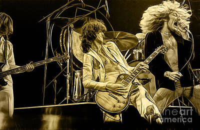 Led Zeppelin Mixed Media - Led Zeppelin Collection by Marvin Blaine