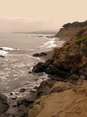 Leffingwell Landing Cambria Art Print by Barbara Snyder