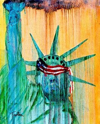 Painting - Left Side Of Liberty by Patrick Trotter