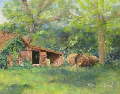 Leftover Hay Art Print by Lorraine McFarland
