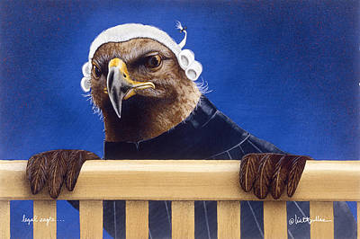 Lawyer Painting - Legal Eagle... by Will Bullas