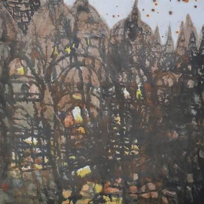 Legend Of Old Castle Art Print by Zi De Chen