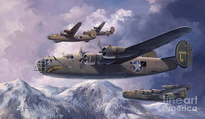 Us Army Fighters Painting - Legends Of The 93rd  by Randy Green