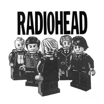 Thom Yorke Drawing - Lego Radiohead by Mark Richardson