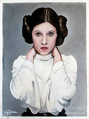 Painting - Leia by Tom Carlton