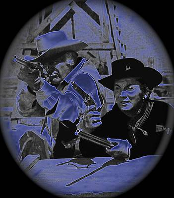 Leif Erickson And Cameron Mitchell  The High Chaparral Old Tucson Arizona 1969 Art Print by David Lee Guss