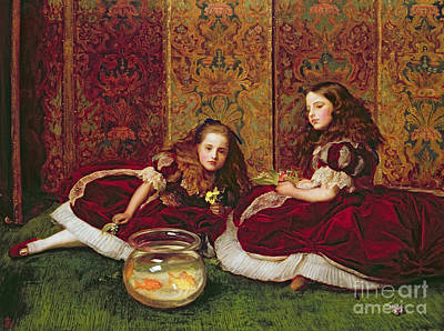 Idle Hour Painting - Leisure Hours by Sir John Everett Millais