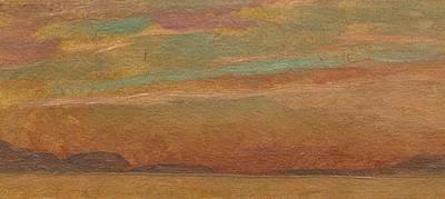 Soleil Couchant Painting - Leman Au Soleil Couchant by MotionAge Designs
