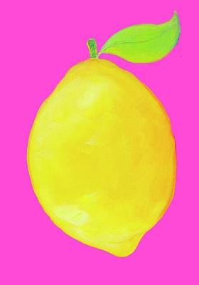 Lemon  Art Print by Jan Matson