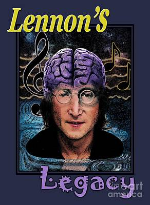 Drawing - Lennon's Legacy by Joseph Juvenal