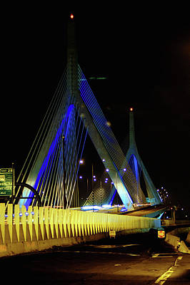 Photograph - Leonard P Zakim Bunker Hill Memorial Bridge by Mike Martin