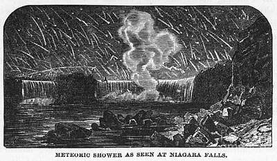 1833 Photograph - Leonid Meteor Shower, 1833 by Granger