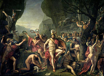 Painting - Leonidas At Thermopylae by Jacques-Louis David