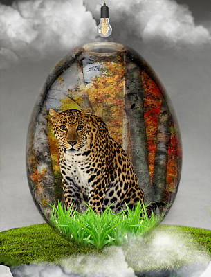 Mixed Media - Leopard Art by Marvin Blaine