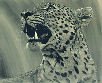 Charcoal Digital Art - Leopard Portrait by Aaron Blaise