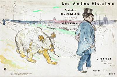 Painting -  Les Vielles Histoires  by Henri de Toulouse-Lautrec