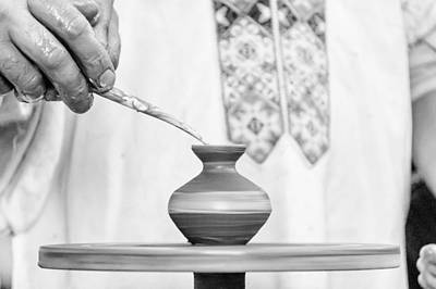 Artist Working Photograph - Lessons Pottery by Serhii Simonov