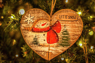 Let It Snow. Art Print by Angela Aird