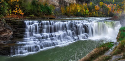 Art Print featuring the photograph Letchworth Lower Falls by Mark Papke