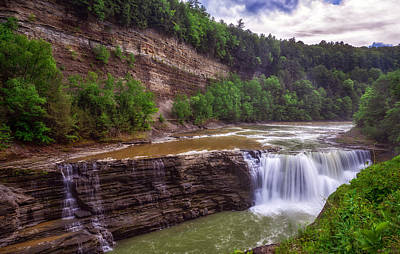 Art Print featuring the photograph Letchworth State Park Lower Falls by Mark Papke