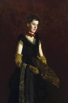 Realist Painting - Letitia Wilson Jordan by Thomas Eakins