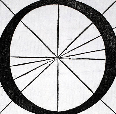 O Drawing - Letter O by Leonardo Da Vinci