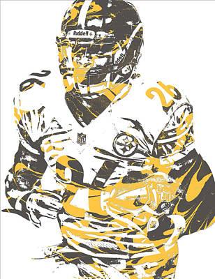 Mixed Media - Leveon Bell Pittsburgh Steelers Pixel Art 21 by Joe Hamilton
