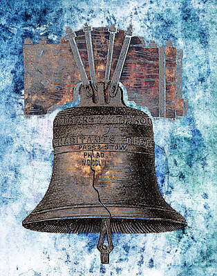 Independence Mixed Media - Liberty Bell by Tammera Malicki-Wong