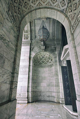 Art Print featuring the photograph Library Portico by Jessica Jenney