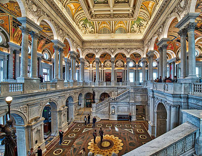 Photograph - Library Of Congress by Farol Tomson