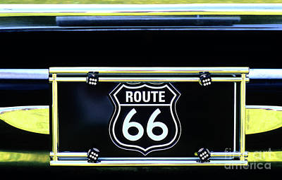 Photograph - License Plate Route 66 Car Show by Jim Corwin