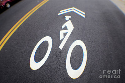 Photograph - Life In The Bike Lane by John S